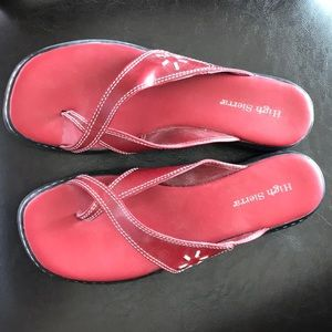 High Sierra red thong sandals - NWOT